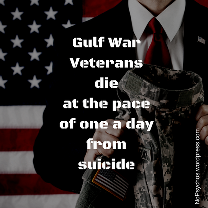 Gulf War Veterans Commit Suicide At One Per Day